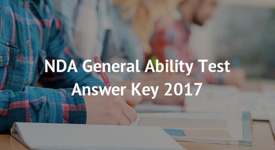 NDA General Ability Test Answer Key 2018