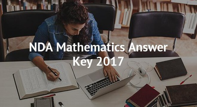NDA Mathematics Answer Key 2018