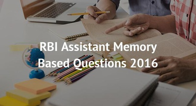 RBI Assistant Memory Based Questions 2016