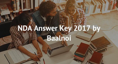 NDA Answer Key 2018 by Baalnoi
