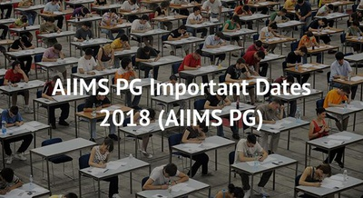 AIIMS PG Important Dates 2018