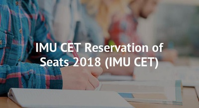 IMU CET Reservation of Seats 2018