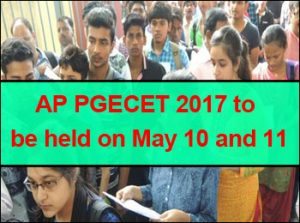 AP PGECET 2017 to be held on May 10 and 11