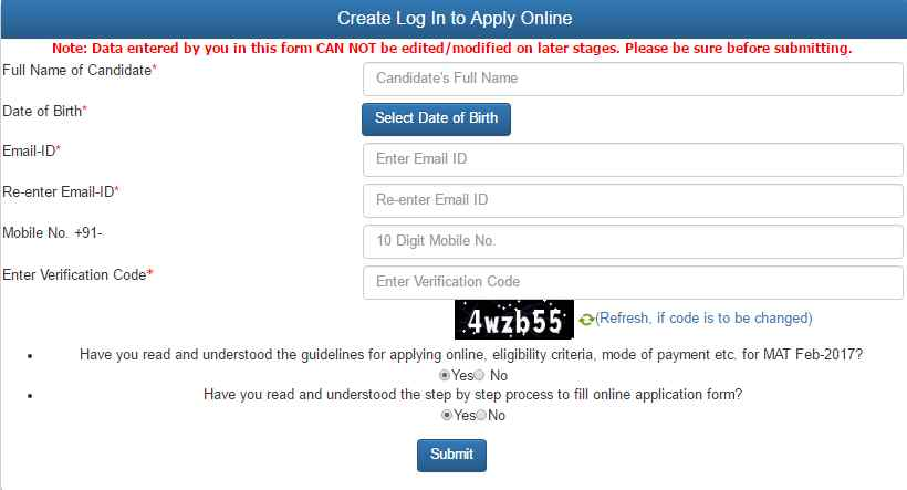 Mat Application Form 2018 February Released Apply Here