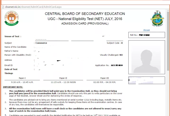 cbse net admit card 2017 released admit card here