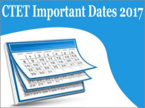 CTET Important Dates 2017 for Exam, Application form & Admit card