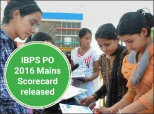 IBPS PO 2016 Mains Scorecard released