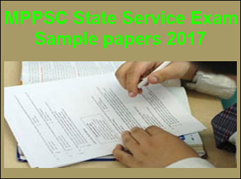 MPPSC State Service Exam Sample Papers