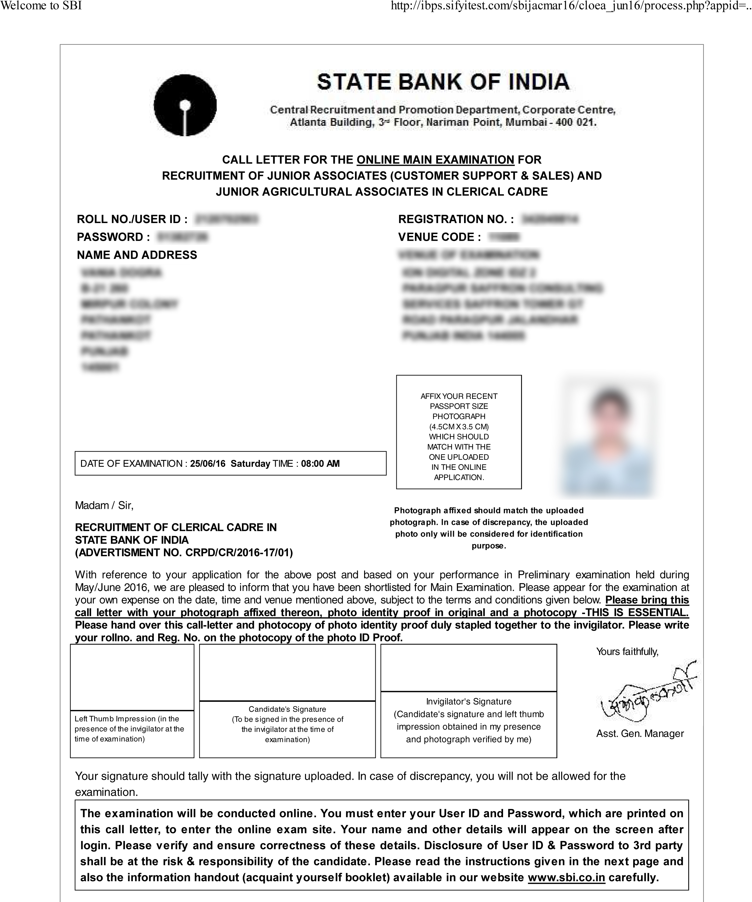 letter writing formats for sbi po exam sbi clerk admit card 2018 ticket of sbi 18389