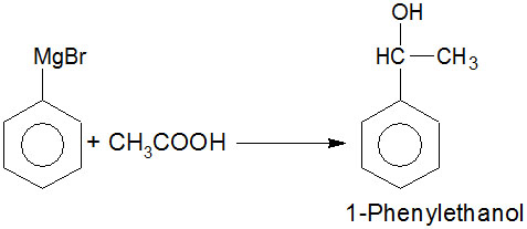 Help me solve this If Phenylmagnesium bromide and acetaldehyde are